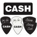 Johnny Cash CASH Guitar 6 Pick Set with Tin Thumbnail