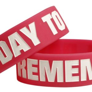 A Day To Remember Logo Rubber Bracelet Red - OSFA
