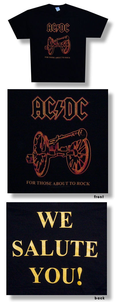 AC/DC About To Rock Cannon T-shirt - L