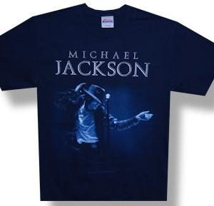 Michael Jackson Photo Navy T-Shirt