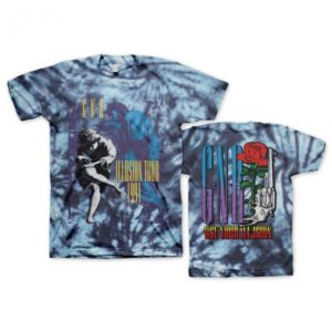 Guns N Roses Illusions Tour Tie-Dye T-shirt
