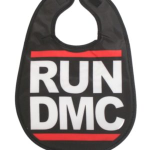Run DMC Logo Baby Bib - One Size