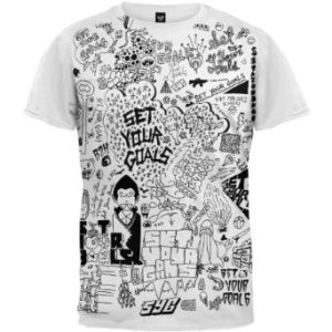 Set Your Goals Doodle Slim Fit T-shirt