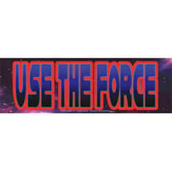 Star Wars Use The Force Sticker - M