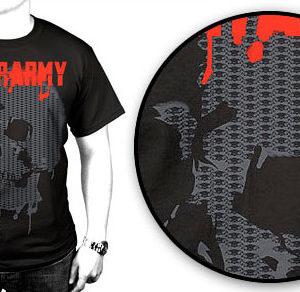 Tiger Army Paint Skull T-shirt