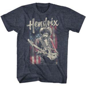Jimi Hendrix Flag Vintage T-shirt